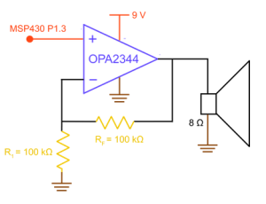 Method2-Non-invertingAmpDrive