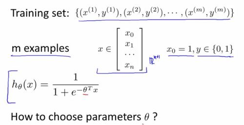 logistic regression model - choose para1