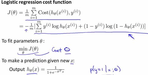 logistic regression model - choose para5